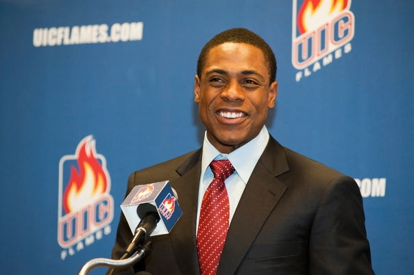 Curtis Granderson During a funding event at University of Illinois at Chicago (UIC)